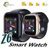 новейшая интеллектуальная камера для часов оптовых-1 ШТ. Новые Z6 Smartwatch для Apple Iphone Smart Watch Bluetooth-часы с камерой и поддержкой SIM-карты для Android-смартфона