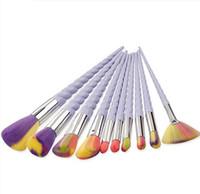 ingrosso spazzole piacevoli-Hot nice items 10 PCS / LOT Unicorn Makeup Brushes Eyeshadow Brush kit La spazzola ventola Makeup Tools spedizione gratuita