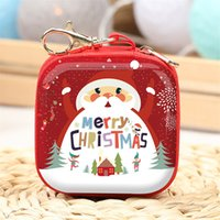 Wholesale mini pocket iron resale online - Mini Christmas Kid Gift Santa Claus Coin Purse For Candy Children Pocket Small Money Wallet Pouch Zip Coin Bag xmas gift A05