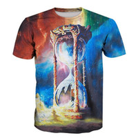 3D Printed T-Shirts Cosmic Drops of Paint for Your Creativity Short Sleeve Tops