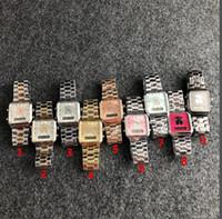 relogios mecânicos quadrados venda por atacado-A produção de aço inoxidável da estrutura do relógio mecânico do relógio do esporte das mulheres do seletor do quadrilátero mais baixo de 2019 33mm