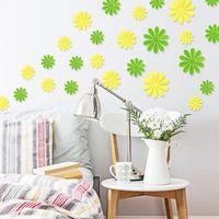 Wholesale unique murals for sale - Group buy Home Wall Sticker Decor Art DIY Unique D Flowers Room Mural Acrylic Decal
