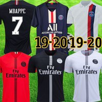 ingrosso kit aria-psg maglietta 2019 2020 Air Jordan MBAPPE NEYMAR JR Champion bambini Kit CAVANI KIMPEMBE VERRATTI MARQUINHOS DI MARIA psg UCL 19 20 Child Football uniforme psg jersey con short