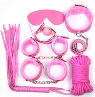 Wholesale adult sets for sale - Group buy Seven sets of SM alternative binding toys torture utensils female tools handcuffs ball whips collar and eye patches for adults