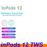 Wholesale pop phone green for sale – best hot Macaron color inpods inpods12 Bluetooth wireless TWS earphone pop up window touch control earbuds Earphone for All Smart Phone