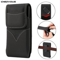 Wholesale black nylon belt clips for sale - Group buy Universal Pouch Holster Case Oxford Cloth Nylon Belt Loop Clip For iPhone PLus X XR XS Max Cover for Samsung Huawei Xiaomi