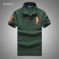 ralph polo xxl großhandel-Marke Ralph Polo Lauren Polo Männer Tdesigner Polo Outdoor-Polo-Shirt lässig Baumwolle T-Shirt Herren hochwertige Polo verschiedene Farben T-Shirt s-xxl