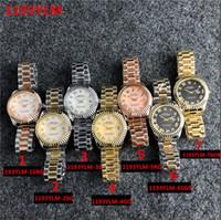 uhr mädchen preis großhandel-Damenuhr Damen 36mm Datum Mädchen Edelsteinglas Uhr automatische mechanische Bewegung Preiszugeständnisse