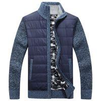 ingrosso rivestimento del rivestimento del maglione-Inverno SweaterCoat Fleece cachemire Liner gli uomini della lana maglione Giacche Uomo Autunno Zipper spessa lavorata a maglia cappotto caldo casual Maglieria