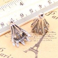 винтажный бадминтон оптовых-6шт Подвески бадминтона Волан 24x16mm Античное Кулоны, Vintage тибетские серебряные ювелирные изделия, DIY для браслета ожерелья