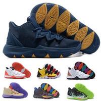 ingrosso basket ball shoes-Kyrie 5 Scarpe da Basket Sneakers Uomo Uomo 2019 Giallo Magico Ikhet Taco Neon Blends PE 3 Mamba Bred Concepts Cestini classici Scarpe da ballo