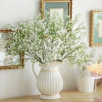 Wholesale silk flowers home decor resale online - 123 Artificial Fake Babys Breath Gypsophila Silk Flowers Bouquet New Year Home Wedding Party Decorations Decor