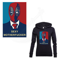 Wholesale sexy hot patch for sale - Group buy Hot Deadpool patches for clothing Cartoon quot SEXY MAN quot DIY T shirt Sweatshirt clothing patches thermal transfe sticker