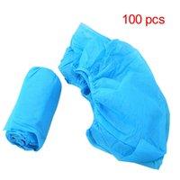 einwegstiefel groihandel-100Pcs Boot-Schuh-Abdeckungen Stoff Einweg-Überschuhe Medical Indoor Teppich
