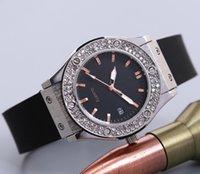 sehen sie vereinigte staaten großhandel-Europa und die Vereinigten Staaten heißer Verkauf lässige Mode mit Diamant Männer und Frauen sehen Silikon Schweizer Uhr Männer Armband