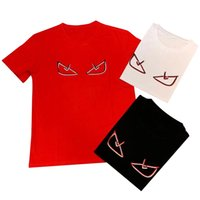 camisas graciosas impresas al por mayor-Camiseta de diseñador para hombre para mangas cortas divertidas de verano Camisetas con estampado de emoji 3 colores Street Style Pareja Camiseta EUR