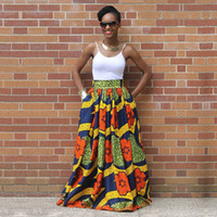 Wholesale top african fashion dresses for sale - Group buy African Dresses Women Clothing Bazin Riche Dresses Africaine Traditional Top Fashion Polyester New Printing Skirts