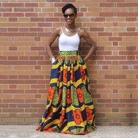 nouvelles robes traditionnelles achat en gros de-Robes africaines Vêtements pour femmes Bazin Riche Robes 2019 Africaine Traditionnelle Haut De Mode Polyester Nouvelle Impression Jupes