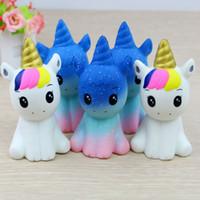 juguetes antiestrés al por mayor-Jumbo Kawaii Squishy Slow Lising Unicorn Donut Soft Colorful. Squishy Animal Big Squishy Squeeze Fun Juguete antiestrés para niños