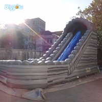 aufblasbare amusements groihandel-Qualitäts-Sommer-Unterhaltungs-Spiel-aufblasbare Wasserrutsche aufblasbare Wasserrutsche mit Pool