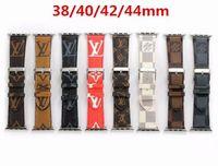 aqua brieftasche großhandel-Top Fashion Armband 42MM 44MM Luxus Leder Uhrenarmbänder für Apple Watch Band 42mm 38mm iwatch 2 3 4 Bänder Lederband Sport Armband