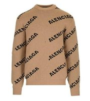 Wholesale computer models for sale - Group buy Autumn and winter new fashion ladies body letter printing sweater round neck casual loose men and women couple models coat