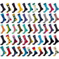 herrenmode socken groihandel-Happy Socks Men's Dress Socks Bunte Funky Socken für Herren Cotton Fashion Patterned Sock