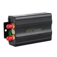 controle remoto gprs venda por atacado-Carros portáteis Sistema de Rastreamento GPS GPS durável SMS GPRS Veículos Tracker Locator Com Controle Remoto Preto