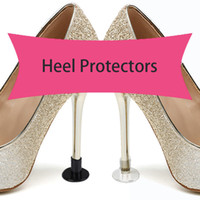 Wholesale shoe heels for sale - Group buy PVC Protective heel cover for high heels Latin Stiletto Anti skid wear resistant and mute heel nail circular cover Heel Protectors SJB001