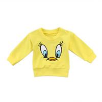 307f8605f432b7 Sweet Toddler Kids Neonate Boys Casual Cartoon Top Felpe Autumn Baby Girl  Cute Animal Cappotti gialli 6M-5T
