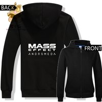 Wholesale mass effect resale online - MASS EFFECT GAME logo printing hoodies gift sweat shirts for game fans lovers hoodies Mess effect cool ac410