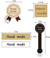 "Black 70pcs /""Hand made/"" Self-adhesive Long label sticker Cake Paper Sticker"