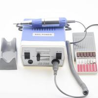 fresadora manicure venda por atacado-35 W 40000 RPM Broca de Prego Elétrico Equipamento de Manicure Ferramentas de Máquinas Manicure Pedicure Acrílico Moagem Arte Broca Pen Machine Set