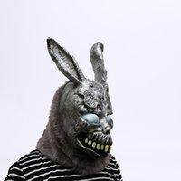 ingrosso animali di maschera di fauna del fumetto-Maschera di coniglio cartone animato animale Donnie Darko Frank The Bunny Costume Cosplay Halloween Party Maks Forniture J190710