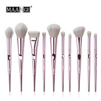 Wholesale beauty cosmetics sale for sale - Group buy Hot sale MAANGE Makeup Brushes Set Foundation Powder Blush Beauty Cosmetic Brush Tools DHL free ship