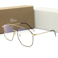 tasarımcı gözlük çerçeveleri kadın toptan satış-Yeni Moda Tasarımcısı erkek Güneş Gözlüğü Yaz Anti-mavi Işık Gözlük Erkekler Kadınlar için Tam Çerçeve ile Düz Ayna Lüks Gözlük ile Kutu