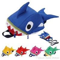 Wholesale toddler toys online - Kids D Animal Backpacks Baby Girls Boys Toddler Schoolbag Children Cartoon shark Backpack Toddler School Bag Gift For CHildren