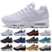 zapatos de hombre 46 al por mayor-2019 Men 95 OG Cushion Navy Sport Nike Air Max 95 de alta calidad Chaussure 95s Walking Boots Hombre zapatillas Cushion 95 zapatillas de deporte Tamaño 36-46