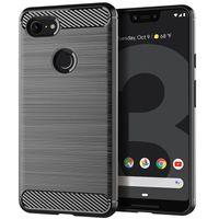 samsung a3 telefon toptan satış-Yumuşak TPU Silikon Kılıf Fırça-Bitirmek Telefon Kapak Google Piksel 3 XL 2XL Samsung J7 J4 Artı 2018 A3 A5 A7 2018