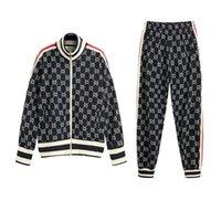 zip chemises achat en gros de-Italie Designers Veste en coton jacquard jersey imprimé Hoodies Veste ZIP-UP Manteau Hommes Femmes Sweat-shirts Pantalon homme Pantalon CHK09