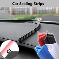 araba etiketleri mazda toptan satış-Araba Dashboard Sızdırmazlık Şeritleri Merkezi Konsol Araba Çıkartmaları Mazda Ford Toyota Için BMW Audi Evrensel Oto İç Aksesuar HHA115