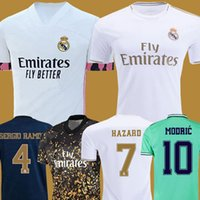 Wholesale xxl real madrid jersey for sale - Group buy REAL MADRID jerseys soccer jersey HAZARD SERGIO RAMOS BENZEMA VINICIUS camiseta football shirt uniforms men kids kit sets