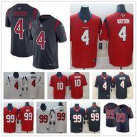 hopkins jersey venda por atacado-Deshaun Watson Houston # 9 dos homens 99 JJ Watt Texans 10 DeAndre Hopkins costura cor rush camisas de futebol americano
