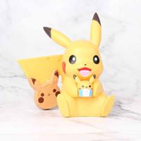 Wholesale valentine ornament for sale - Group buy New Style cm Smile Pikachu Action Figure Embrace Mini Doll Cake ornament Micro Landscape Model Car Accessories Kids Toys L132