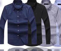 chemises habillées de marque achat en gros de-Mens Designer Robe shirt de qualité d'affaires Polo poney broderie marque chemise blanche Ralph Lauren luxe Hommes Chemises