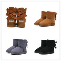 ingrosso scarponi da neve bianchi per bambini-2020 designer WGG Australia Classic bambini Ug scarpe da neve stivali da neve di alta qualità ragazzo ragazza inverno Mantieni la taglia calda alla caviglia 26-35