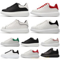 erkek kıyafeti ayakkabı platformu toptan satış-Siyah Rahat Ayakkabılar Mens Womens Chaussures Ayakkabı Güzel Platformu Rahat Sneakers Tasarımcılar Ayakkabı Deri Katı Renk Elbise Ayakkabı 35-44