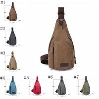göğüs dolaşımı paketleri toptan satış-Taşınabilir mini açık yürüyüş göğüs çantası avcılık taktik çanta bisiklet spor omuz çantası kamp seyahat tuval paketleri ZZA467