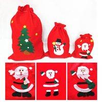 bag candy natal vermelho venda por atacado-Tamanho qualidade Non-Woven Christmas Gift Bag Melhor Cor Red grandes fontes do partido Papai Noel doces Sacos de Natal T9I00170