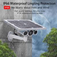 outdoor-bewegungs-erkennung ip-kameras großhandel-WiFi 4G 1080P P2P Bewegungserkennung im Freien CCTV-Kamera 2019 Solar Power Wireless Videoüberwachung Sicherheit IP-Kamera